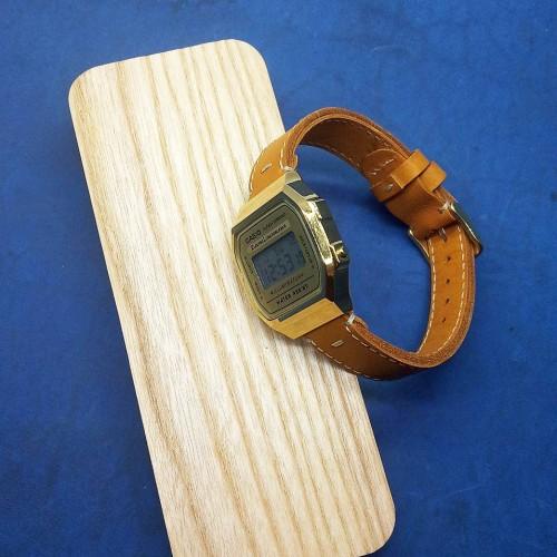 Электронные наручные часы Casio + ремешок ручной работы от REMEN-Master CWC100