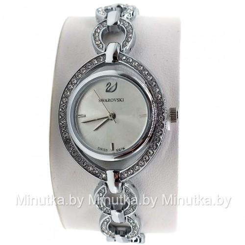 Комплект! Женские наручные часы Swarovski, браслет, подвеска, серьги CWC040