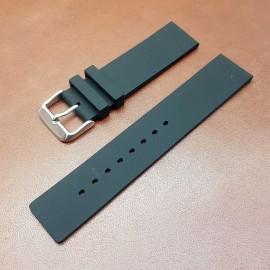 Ремешок каучуковый черного цвета для часов 24 мм BC101-24