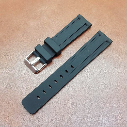 Ремешок каучуковый черного цвета для часов 20 мм BC108-20