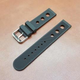 Ремешок каучуковый черного цвета для часов 22 мм BC123-22