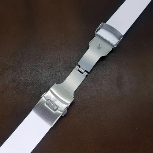 Браслет каучуковый белого цвета для часов 22 мм BC501W-22