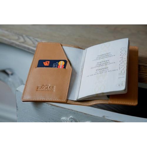 Обложка для паспорта из кожи ручной работы BL008