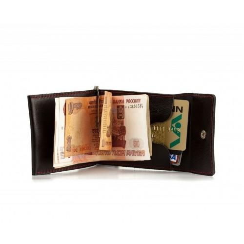 Зажим для денег из кожи ручной работы ZD002