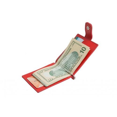 Зажим для денег из кожи ручной работы ZD006