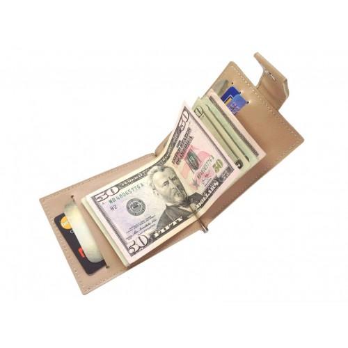 Зажим для денег из кожи ручной работы ZD008