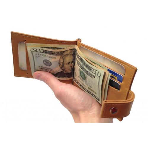 Зажим для денег из кожи ручной работы ZD015
