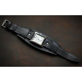 Кожаный ремешок ручной работы с напульсником для часов 22 мм Remen M003-22