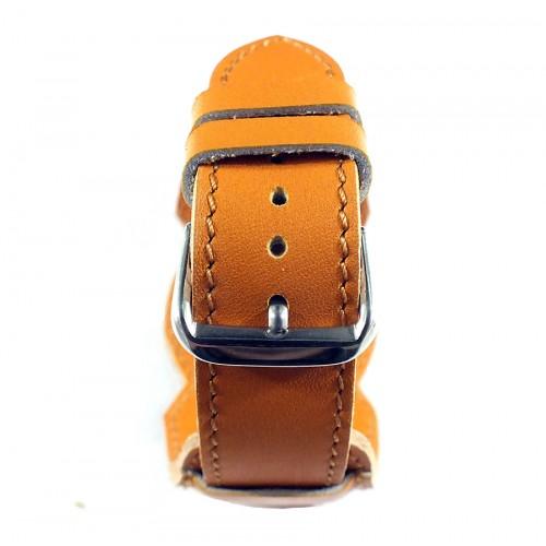 Кожаный ремешок ручной работы с напульсником для часов 18 мм Remen M005-18