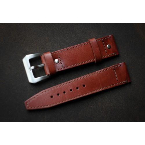 Кожаный ремешок ручной работы для часов 18 мм Remen M017-18