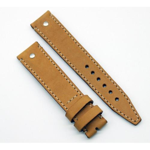 Кожаный ремешок ручной работы для часов 18 мм Remen M056-18