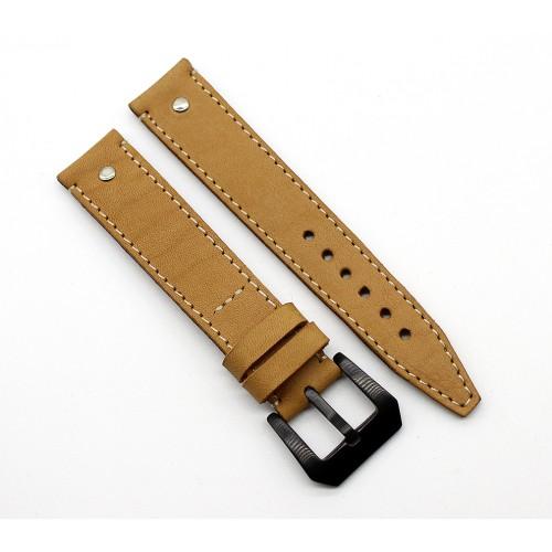 Кожаный ремешок ручной работы для часов 18 мм Remen M058-18
