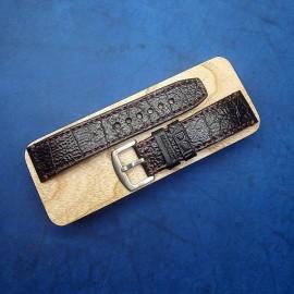 Авторский кожаный ремешок ручной работы для часов 24 мм M112-24