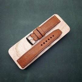 Авторский кожаный ремешок ручной работы для часов 20 мм M114-20