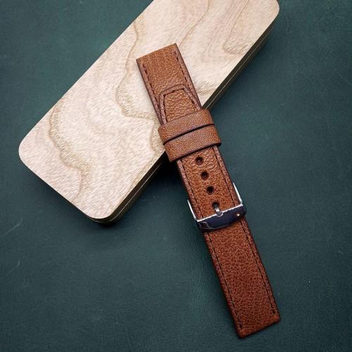 Авторский кожаный ремешок ручной работы для часов 24 мм M114-24