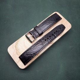 Авторский кожаный ремешок ручной работы для часов 22 мм M115-22