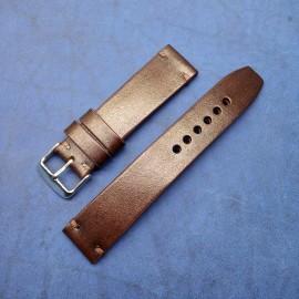 Авторский кожаный ремешок ручной работы для часов 22 мм M116-22