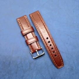 Авторский кожаный ремешок ручной работы для часов 22 мм M117-22