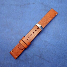 Авторский кожаный ремешок ручной работы для часов 20 мм M123-20
