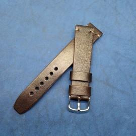Авторский кожаный ремешок ручной работы для часов 20 мм M124-20