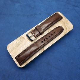 Авторский кожаный ремешок ручной работы для часов 20 мм M125-20