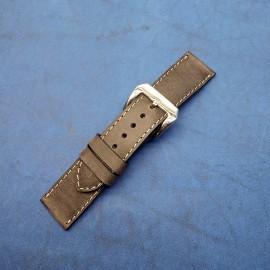 Кожаный ремешок ручной работы для часов 24 мм M132-24