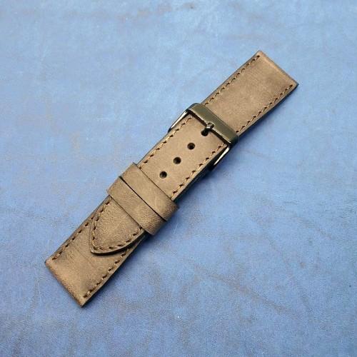 Кожаный ремешок ручной работы для часов 24 мм M136-24