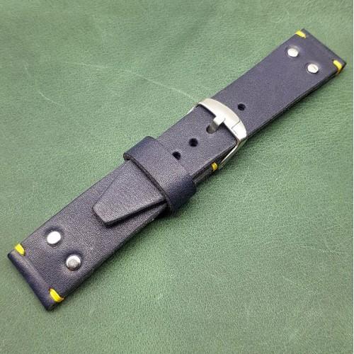 Кожаный ремешок ручной работы для часов 24 мм M156-24