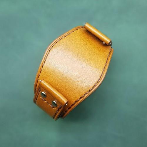 Авторский кожаный ремешок ручной работы для часов FOSSIL 22 мм M157-22