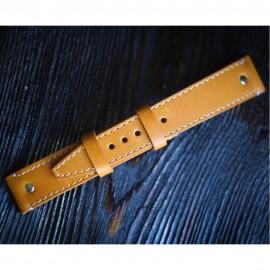 Кожаный ремешок ручной работы для часов 18 мм Remen M013-18