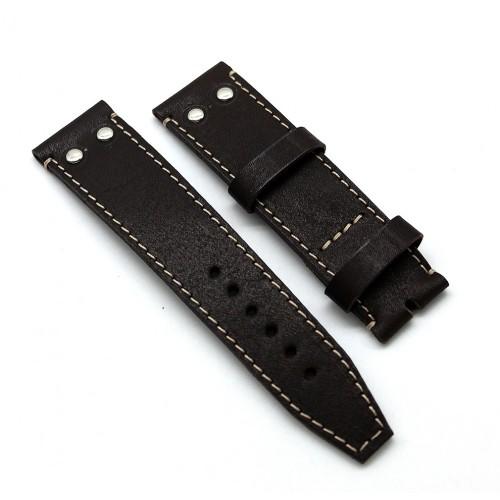 Кожаный ремешок ручной работы для часов 24 мм Remen M023-24