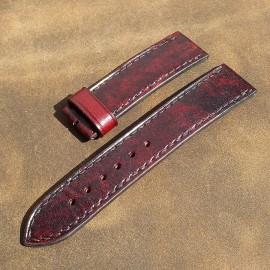 Авторский кожаный ремешок ручной работы для часов 22 мм M064-22