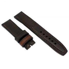 Авторский кожаный ремешок ручной работы для часов 22 мм M091-22