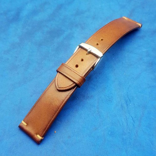 Авторский кожаный ремешок ручной работы для часов 22 мм M150-22