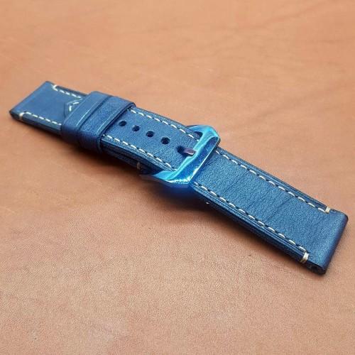 Авторский кожаный ремешок ручной работы для часов Luminor Panerai 24 мм M151-24