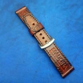 Авторский кожаный ремешок ручной работы для часов 24 мм M152-24