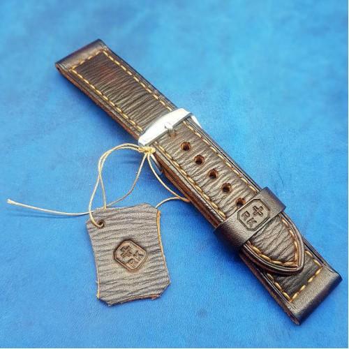 Авторский кожаный ремешок ручной работы для часов 22 мм M153-22