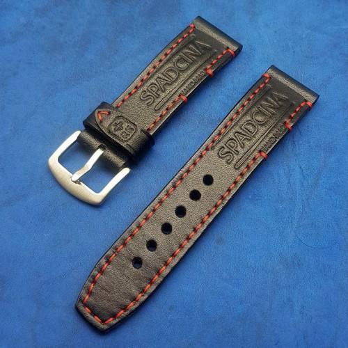 Авторский кожаный ремешок ручной работы для часов 24 мм M154-24